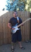 Holding my Fender American Strat