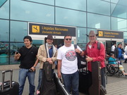 Danny Shain and band arriving to Lima, Peru