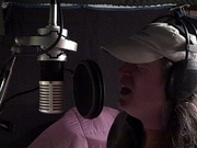 Laying down some vocals