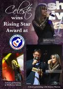 So honored to have won the Rising Star Award at the Nashville Universe Awards