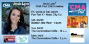 Jessie Lynn - CMA Fest 2018 schedule as of 05/17/18