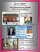Jessie Lynn - June 2018 Performance Schedule