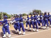 Les gendarmes et gendarmetes ont brillé au cours des marches par la belle couleur de leurs tenues dans ce défilé du 11 décembre 2012