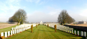 Panoramic photograph of Caberet Rouge Cemetery, France December 2012