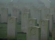 Cabaret Rouge - Canadian soldiers headstones on a misty December morning