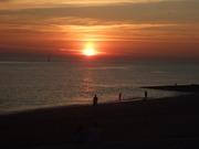 Late season BBQ Brighton Beach - sunset