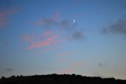 Moon rise over Devils Dyke