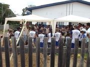 Exposição Oficina UHE Teles Pires na Escola Municipal São Pedro em Paranaíta/MT.