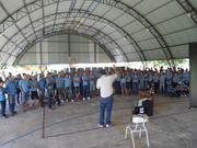 Exposição Oficina UHE Teles Pires na Escola Estadual João Paulo e Escola Nossa Senhora das Graças em Paranaíta/MT.