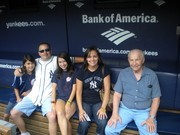 In the dugout of the best baseball team ever - NY Yankees!!