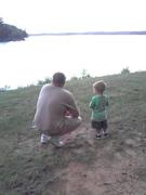 Tommy and Taban on May 29, 2009 (one year before he died 5-29-2010) Oconeechee Park