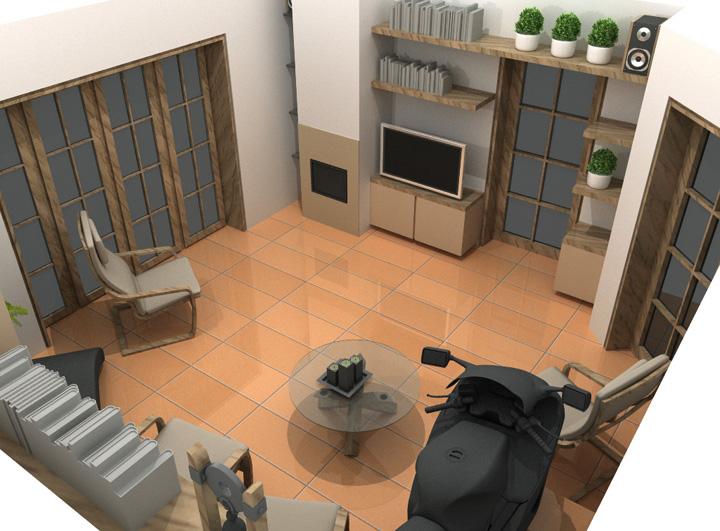 Projekt interiéru rodinného domu v Rudné u Prahy