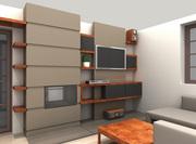 Návrh obývákové stěny Škvorec