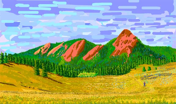 The Flatirons in Summer