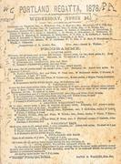 Portland Regatta program 1878