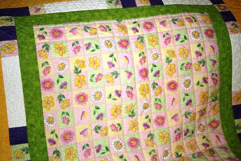 Little Girls Happy Spring Quilt