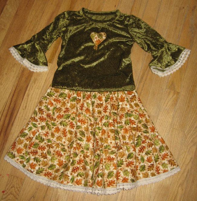 Fall Skirt and Top