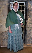 winter capelet for guide from oxford castle