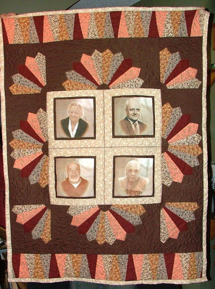 """""""Ann's Quilt"""" - Memory Quilt for Mother-in-Law"""