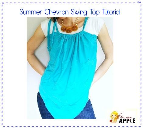 Summer Chevron Swing Top Tutorial by Brassy Apple
