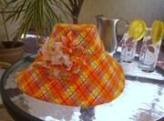 shady lady orange plaid2
