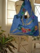 Folded flowers bag.