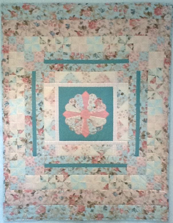 Lap Quilt - Pretty Floral Quilt