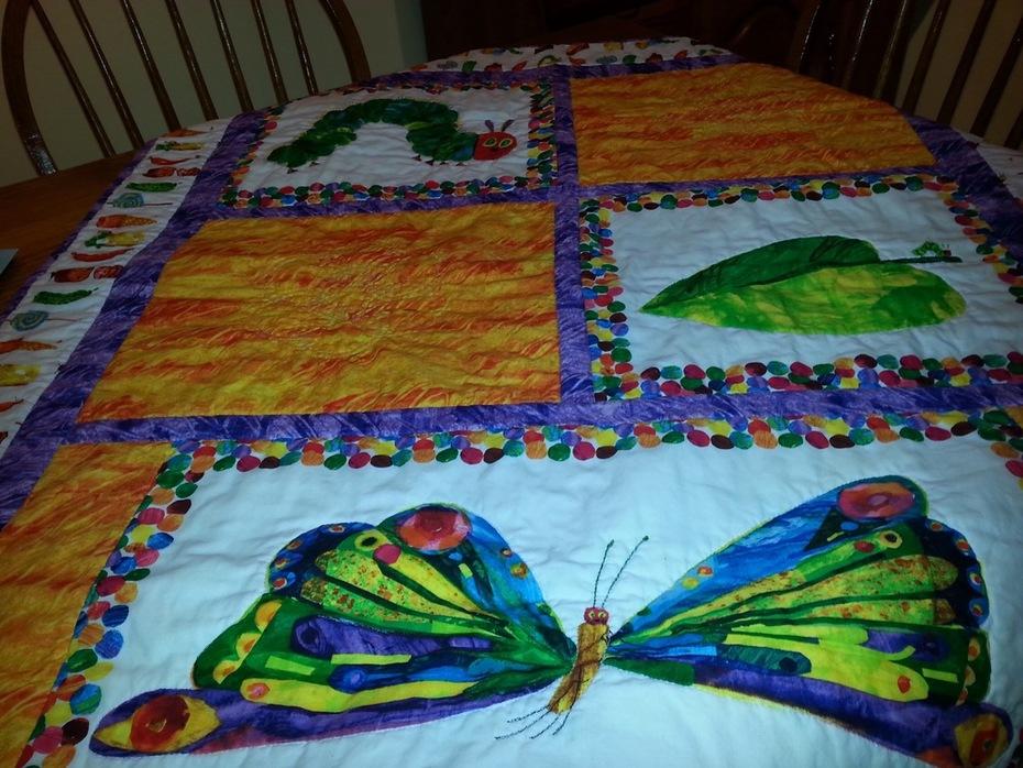 front of caterpillar
