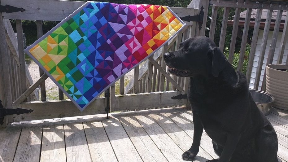 Modern Geometric Quilted Wall Hanging