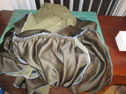 Easing in excess fabric - Before