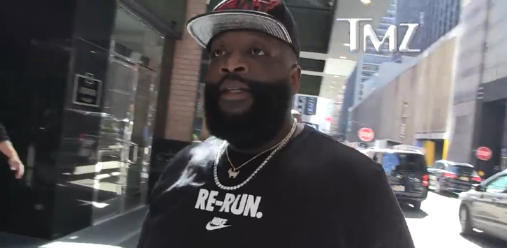Rick Ross Promises to Clean Up TMZ Photographer and Harvey's Look