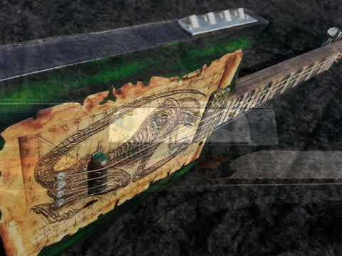 Swamp witch guitar knee hi 19 inch scale HR Giger aliens