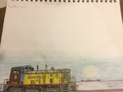 Daily train drawing