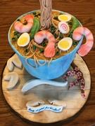 Ramen noodle soup bowl