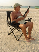 practicing at the beach ...
