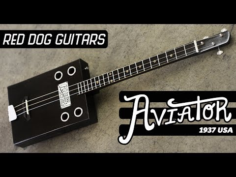 The Aviator -3- String Guitar -  Cigar Box Bottleneck Slide Guitar