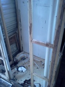 Tearing out bathroom yikes!