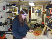 cutting the glass and Varnish
