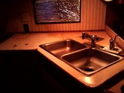 Rotten countertop and sinking sink