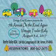 ON the ROAD AGAIN vintage trailer rally