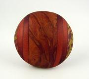 Polymer Clay Bead, rust, green