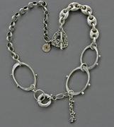 Large link hobnail necklace