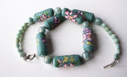 Faux Needlepoint necklace