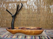 Ironwood jewelry bowl with Desert willow necklace tree