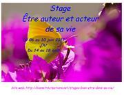 Stage Être auteur et acteur de sa vie