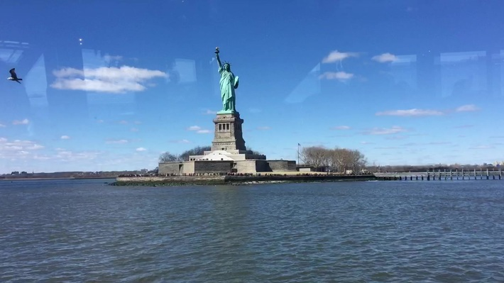 My New York Tour 1 - The Lady Of Liberty.