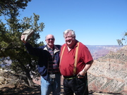 Tom & Jim with Grand Canyon behind
