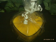 Heart Soy candle Container