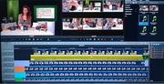 multi-cam monitor met VCC presentatrice karin