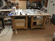 Artist Studio Rolling Worktables